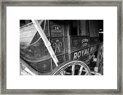 Cobb And Co Royal Mail Framed Print by Ian  Ramsay
