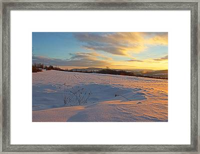 Cobb Hill Sunset-cazenovia Framed Print by John   Kennedy