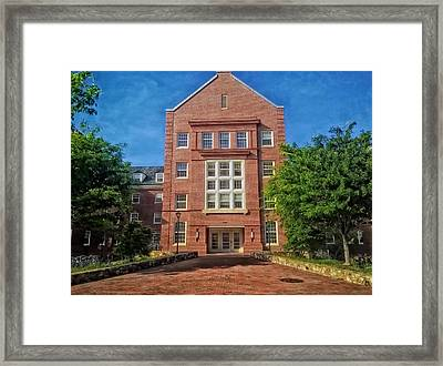 Cobb Residence Hall - University Of North Carolina Framed Print by Mountain Dreams