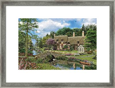Cobble Walk Cottage Framed Print by Dominic Davison