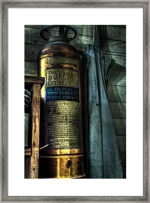 Cobblers Fire Extinguisher Framed Print