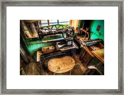Cobblers Sewing Machine Framed Print