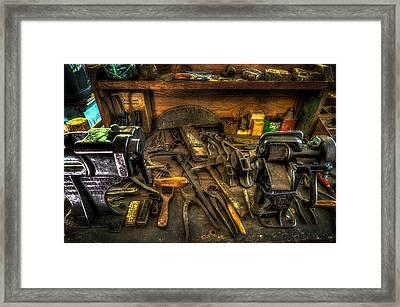 Cobblers Workbench Framed Print
