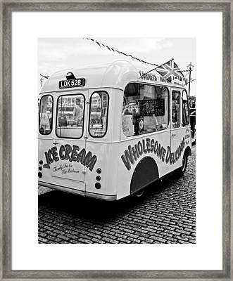 Cobbles Ice Cream Framed Print