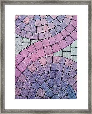 Cobblestone Abstract Framed Print by Art Block Collections