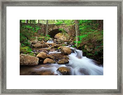 Cobblestone Bridge Framed Print