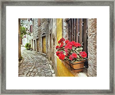 Cobblestone Streets Of Bale Framed Print by Maciek Froncisz