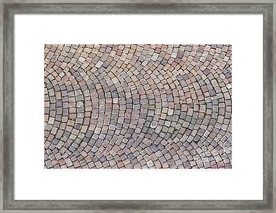 Cobblestones Framed Print by Michal Boubin