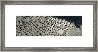 Cobblestones, Plaza De La Catedral Framed Print