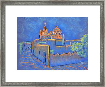 Cobblestones To The Basilica Framed Print by Marcia Meade