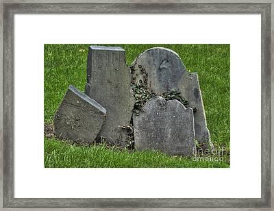 Cobbs Hill Burial Ground 3 Framed Print by Deborah Smolinske