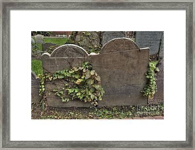 Cobbs Hill Burial Ground 5 Framed Print by Deborah Smolinske
