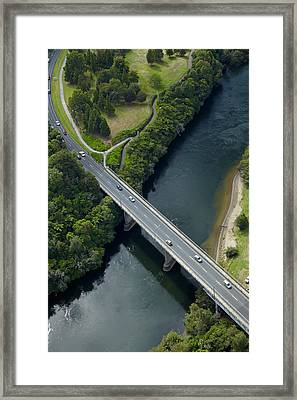 Cobham Bridge (state Highway One Framed Print by David Wall