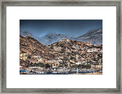 Cobo San Lucas-abstract Hdr Framed Print