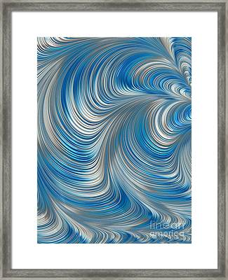 Cobolt Flow Framed Print