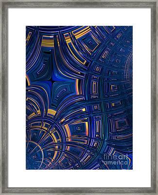 Cobolt Plates Framed Print