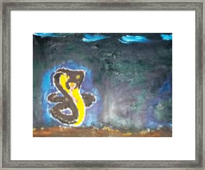 Cobra Oil Painting Framed Print by William Sahir House
