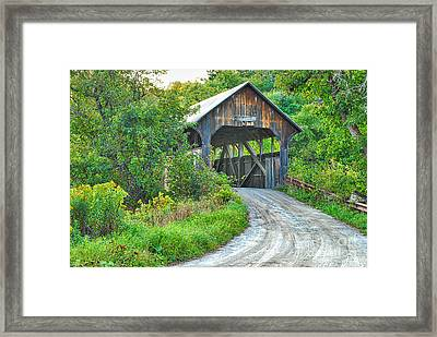Coburn Covered Bridge Framed Print by Mary Carol Story