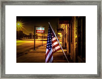 Coca-cola And America Framed Print