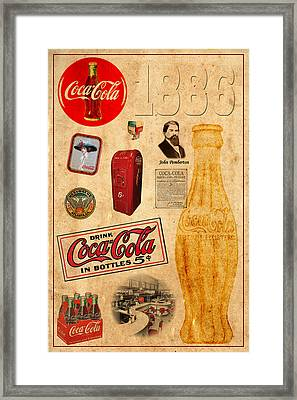 Coca Cola Framed Print by Andrew Fare