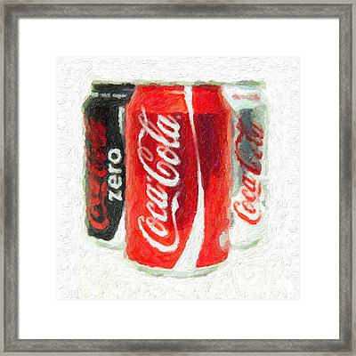 Coca Cola Art Impasto Framed Print by Antony McAulay