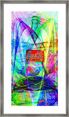 Coca Cola Bottle 20130621di Long Framed Print