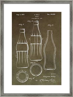 Coca Cola Bottle Patent Framed Print by Dan Sproul