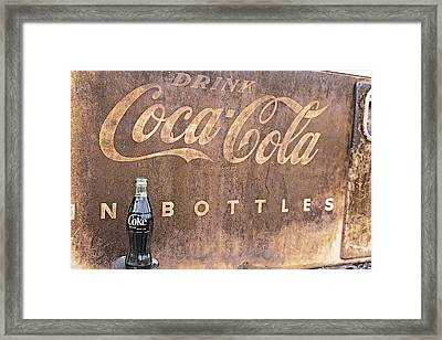 Framed Print featuring the photograph Coca-cola Bottle Return For Refund 13 by James Sage