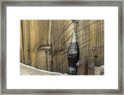 Framed Print featuring the photograph Coca-cola Bottle Return For Refund 9 by James Sage