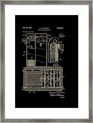 Coca Cola Bottle Vending Machine Patent 1952 Framed Print by Mountain Dreams