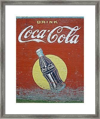 Coca-cola Framed Print by Cheri Randolph