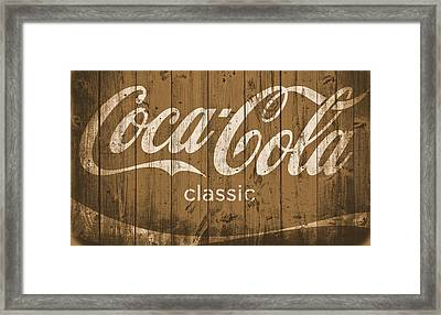 Coca Cola Classic Barn Framed Print