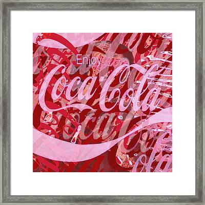 Coca-cola Collage Framed Print by Tony Rubino