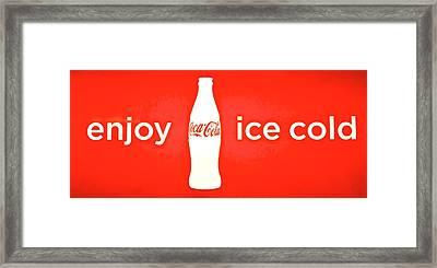 Coca Cola Framed Print