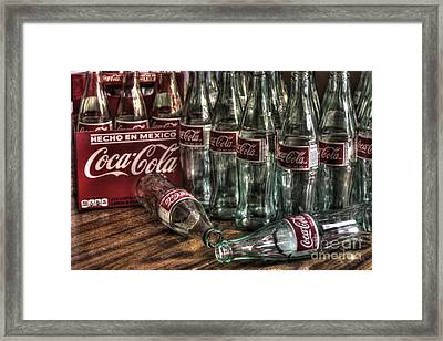 Coca Cola - Hecho En Mexico Framed Print by J M Lister