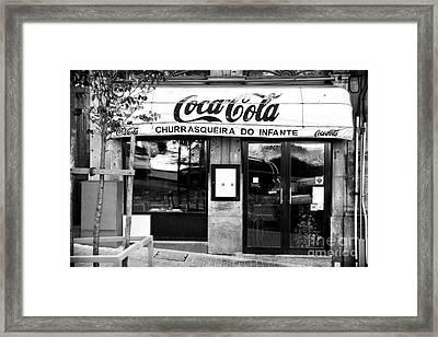 Coca Cola In Portugal Framed Print