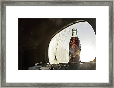 Framed Print featuring the photograph Coca-cola In The Light Of Day 2 by James Sage