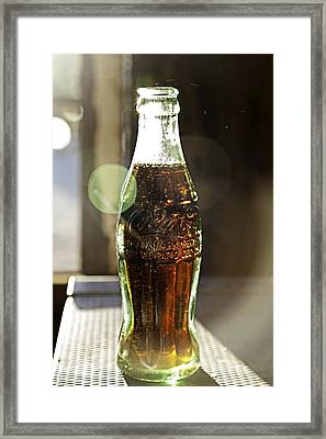 Coca-cola In The Light Of Day Framed Print