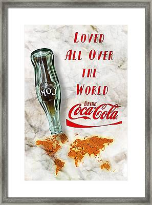 Coca Cola Loved All Over The World 2 Framed Print