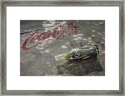 Framed Print featuring the photograph Coca-cola Loved All Over The World 6 by James Sage