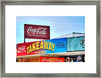 Coca-cola - Old Shop Signage Framed Print by Kaye Menner