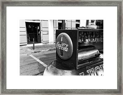 Coca Cola On Bourbon Street Mono Framed Print