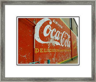Coca-cola On The Army Store Wall Framed Print by Kathy Barney