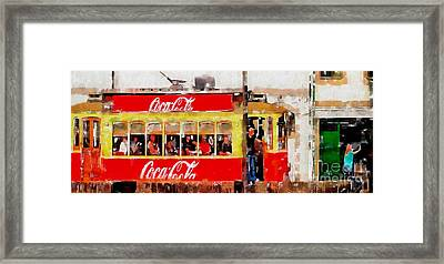 Coca Cola On Wheels Framed Print by Mary Machare