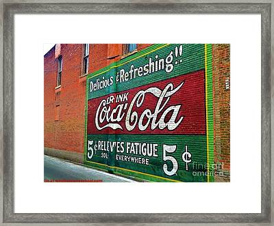Coca Cola Framed Print by PainterArtist FIN