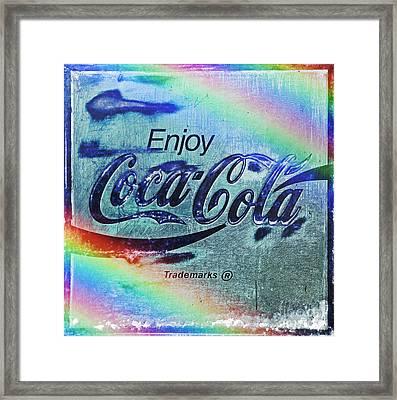 Coca Cola Rainbow Framed Print