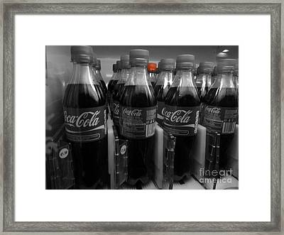Coca Cola Red Lid Framed Print by Patrick Dinneen