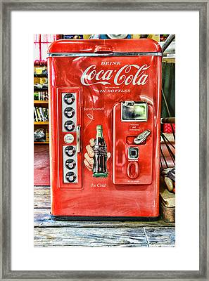 Coca-cola Retro Style Framed Print by Paul Ward