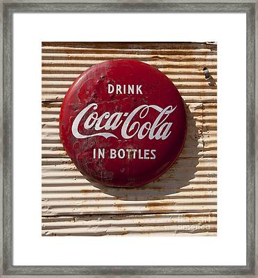 Coca Cola Sign   #0636 Framed Print