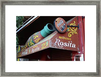 Coca Cola Sign Buenos Aires Framed Print by Bob Christopher